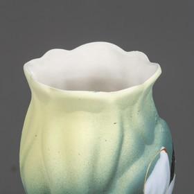 """Ваза """"Азалия"""" нарцисс, зелёная, 32 см, микс - фото 1702700"""