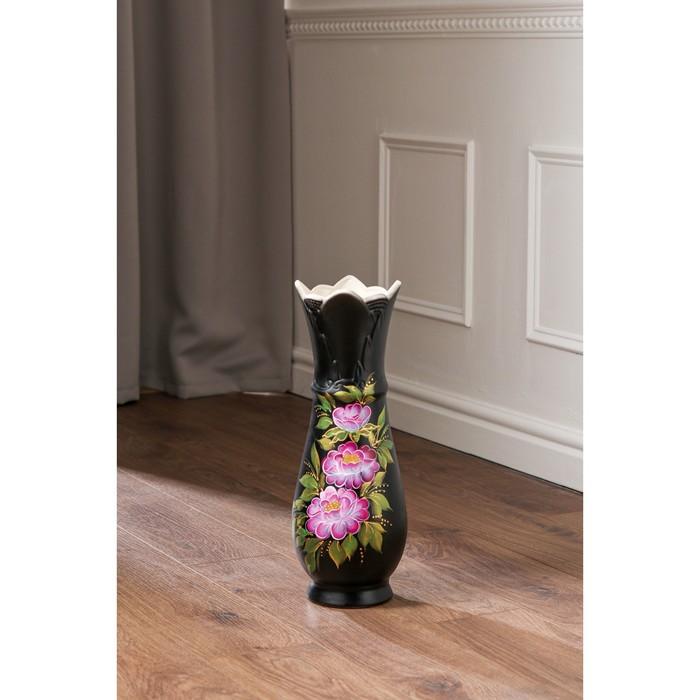 """Ваза напольная """"Виктория"""", коричневая, 45 см, микс, керамика"""