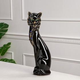 """Копилка """"Кошка Сиамская"""", глазурь, чёрная, 43 см"""