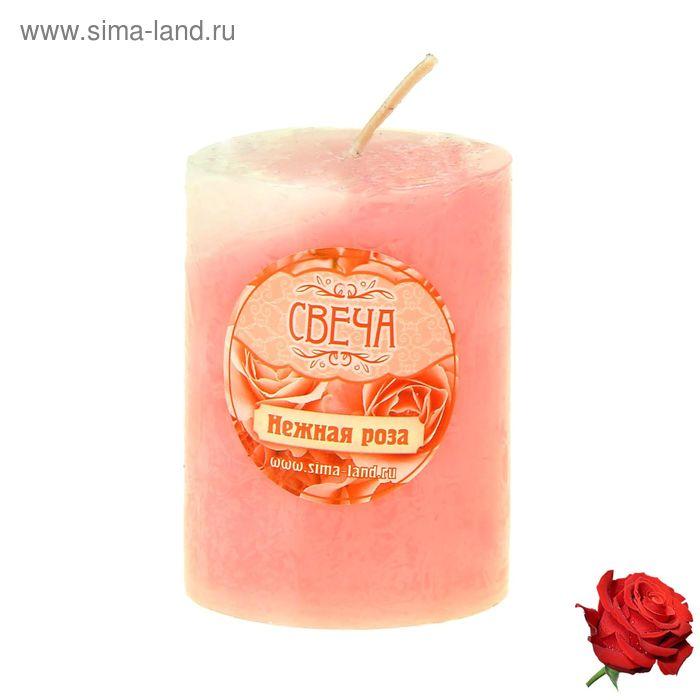 "Свеча восковая ""Столбик"", аромат роза"