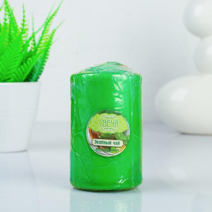"""Свеча восковая """"Конус"""", аромат зелёный чай"""