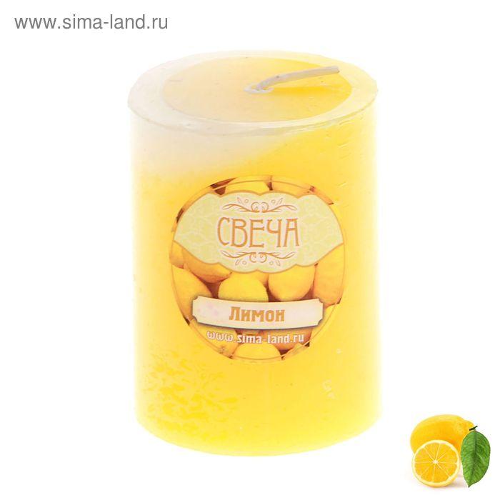 """Свеча восковая """"Столбик"""", аромат лимон"""