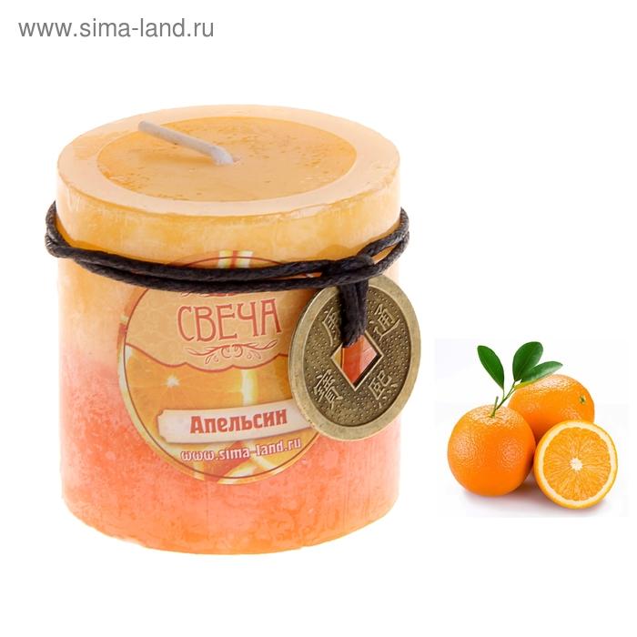"""Свеча восковая """"Монета"""", аромат апельсин"""
