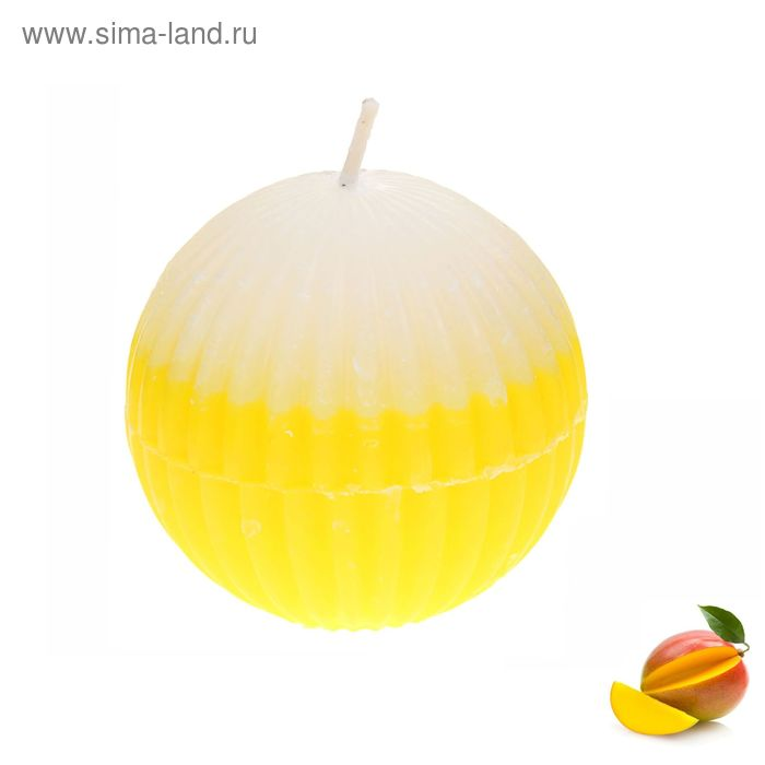 "Свеча восковая ""Шар"", аромат манго"