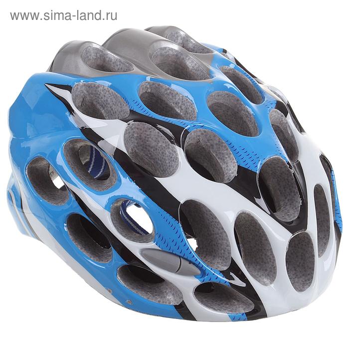 Шлем велосипедиста взрослый T39, размер 52-60 см, цвета МИКС