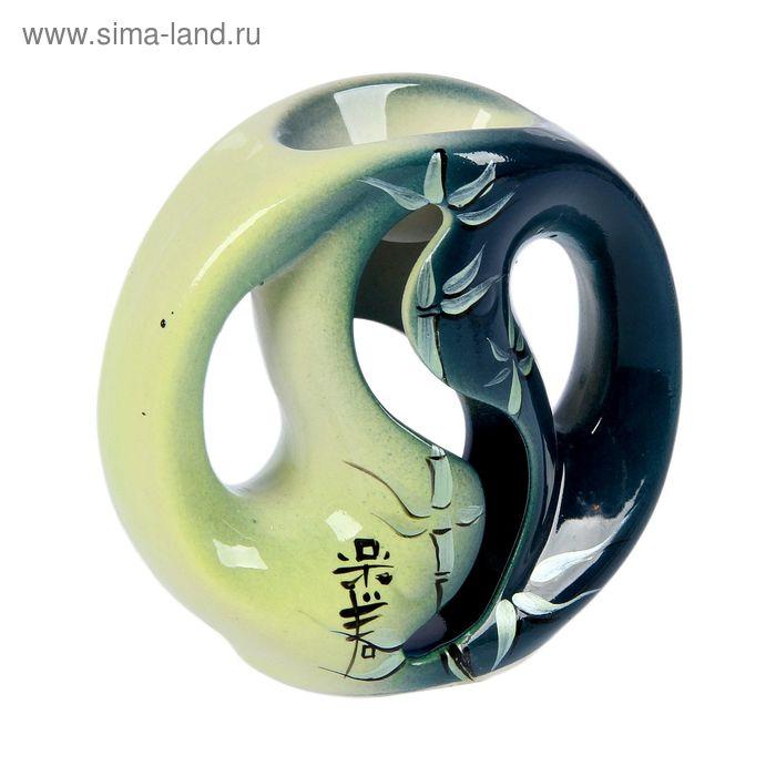 """Аромалампа """"Инь-ян"""" зелёная"""