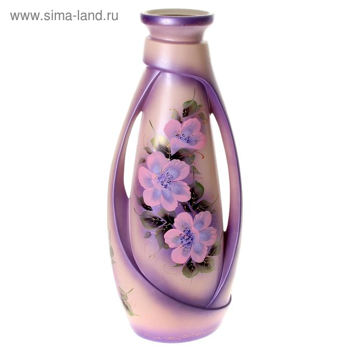 """Ваза напольная """"Венеция"""" цветы, акрил, сиреневая"""