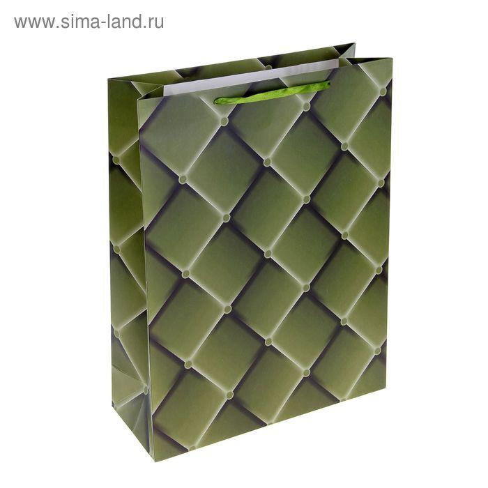 """Пакет ламинированный """"Ромбики"""", цвет зеленый"""