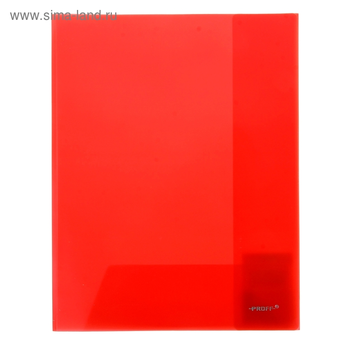 Папка-уголок A4, с 2-мя внутренними клапанами прозрачная красная 0,30мм
