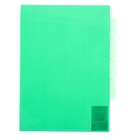 Папка-уголок A4, с тремя отделениями прозрачная зеленая 0,18мм