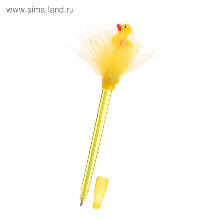 """Ручка с подсветкой """"Уточка"""" на пружинке"""