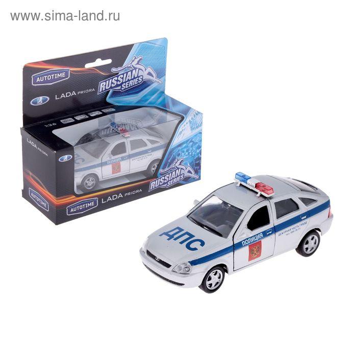 Модель машины полиция Lada Priora, масштаб 1:36