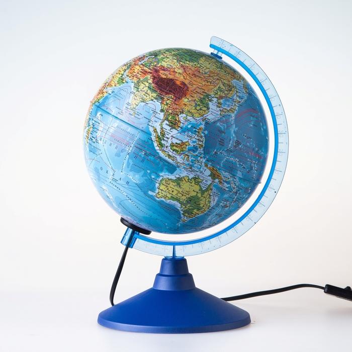 Глобус физико-политический «Классик», диаметр 150 мм, с подсветкой