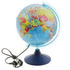 """Глобус политический диаметр 250мм """"Классик Евро"""" с подсветкой"""