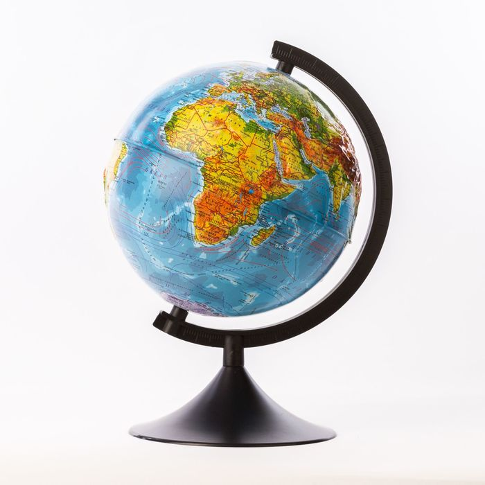 Глобус физический рельефный «Классик», диаметр 210 мм