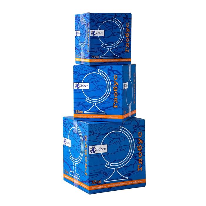Глобус физико-политический «Классик», диаметр 320 мм, с подсветкой