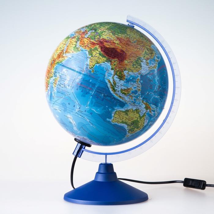 Глобус физический «Классик Евро», диаметр 250 мм, с подсветкой