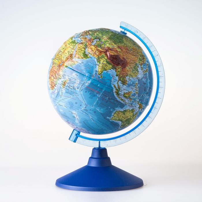 Глобус физический рельефный «Классик Евро», диаметр 210 мм