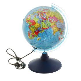Глoбус политический «Классик Евро», диаметр 210 мм, с подсветкой