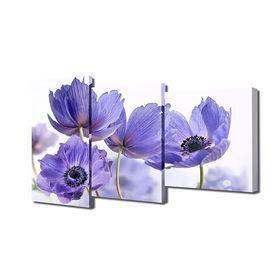"""Модульная картина на подрамнике """"Сиреневые цветы"""", 26×30 см, 26×40 см, 26×50 см, 50×80 см"""