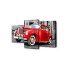 """Модульная картина на подрамнике """"Красный ретроавтомобиль"""", 26×50 см, 26×40 см, 26×32 см, 50×80 см"""
