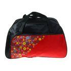 """Сумка спортивная """"Фейерверк"""", 1 отдел, 1 наружный карман, чёрный/красный"""