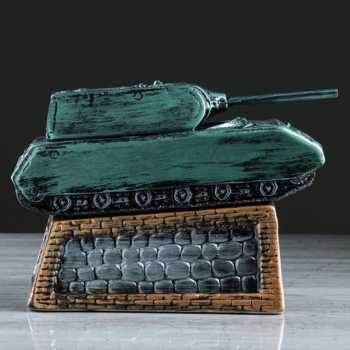 "Копилка ""Танк"" камуфляж, зелёная"
