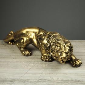 """Статуэтка """"Крадущийся лев"""" 16 см"""