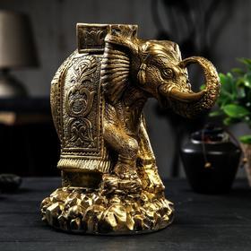 """Копилка """"Слон индийский"""", глянец, бронзовый цвет, 25 см"""