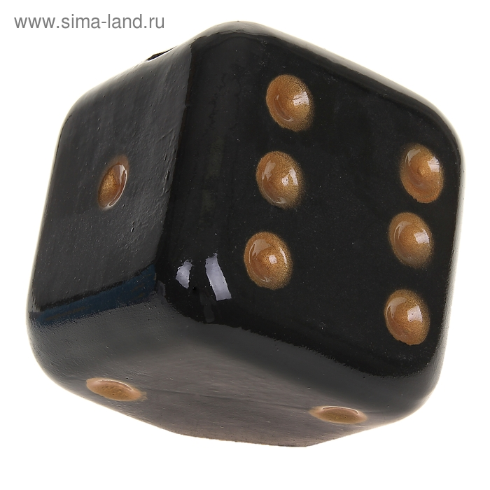 "Копилка ""Кубик"" чёрная"