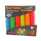 """Пластилин флуоресцентный 6 цветов 55гр """"Флюрики"""""""