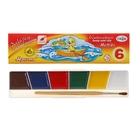 Акварель «Гамма МУЛЬТИКИ», 6 цветов, в картонной коробке, с кистью
