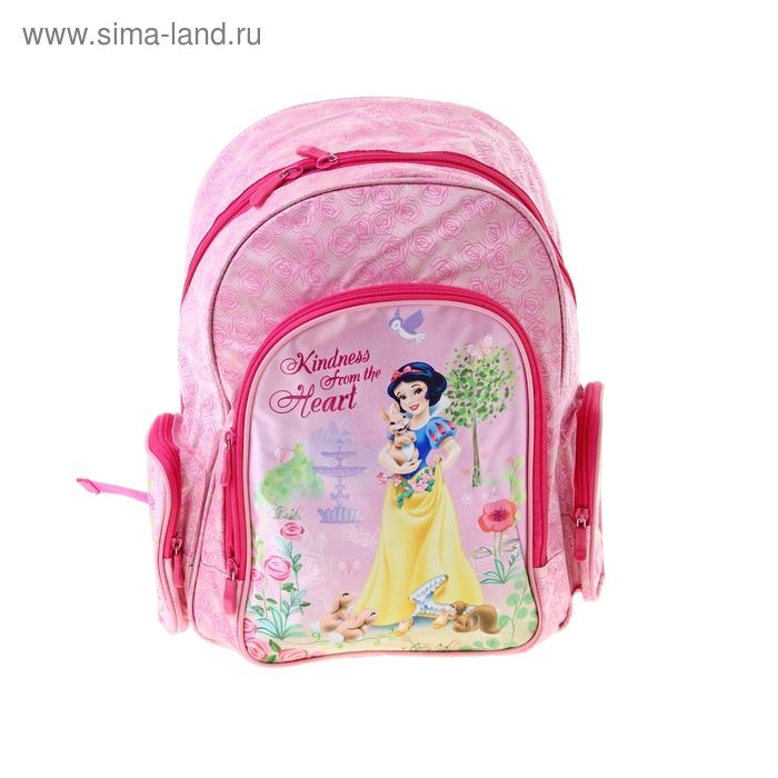 """Рюкзак школьный эргономичная спинка Disney """"Принцессы"""" с EVA-спинкой, для девочки 38*29*13 см"""