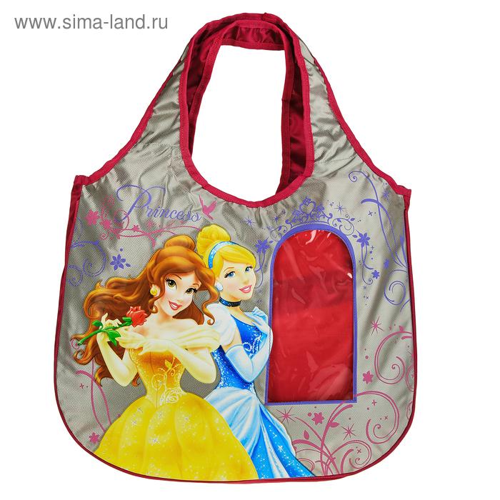 """Сумочка детская для девочки Disney """"Принцесса"""" 36*45*7 см с прозрачными вставками"""