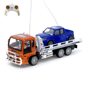 "A set of machines radio-controlled ""truck tow Truck + pick-up"" work from the battery, MIX color"