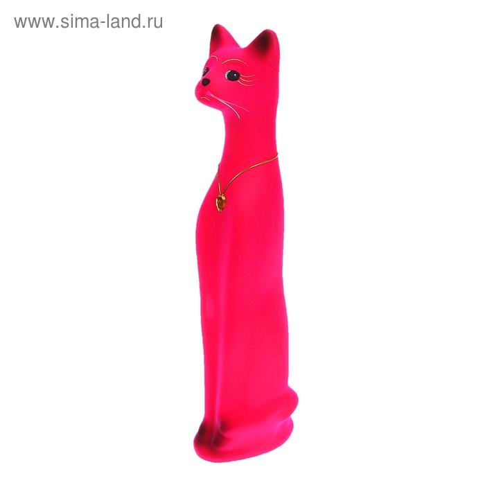 """Копилка """"Кот"""" средняя, флок, розовая"""