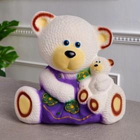 """Копилка """"Медведица с малышом"""", флок, разноцветный, 28 см, микс"""