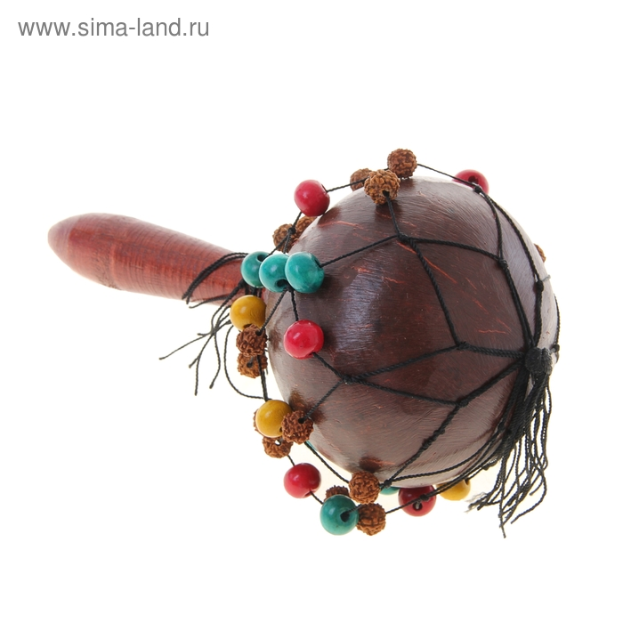 Маракас с бусинами и плодами фруктов