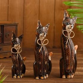 "A set of souvenir cats ""Cat with butterfly on the neck"", 3 pieces, 26 cm, 30 cm, 35 cm"