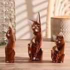 """Набор кошек сувенирных """"Кошки с красными ушками"""", 3 шт., МИКС - фото 1700798"""