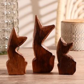 """Набор кошек сувенирных """"Кошки с красными ушками"""", 3 шт., МИКС - фото 1700799"""
