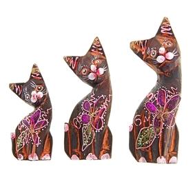 """Набор кошек сувенирных """"Кошки с красными ушками"""", 3 шт., МИКС - фото 1700800"""