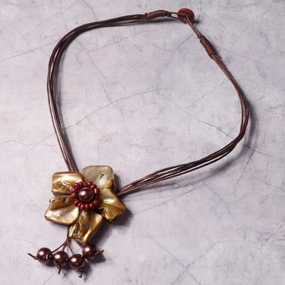 "Necklace ""Golden flower"""