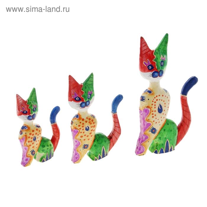 """Набор кошек сувенирных """"Кошки Радужные"""", 3шт"""