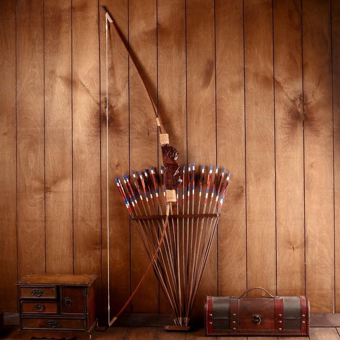 Сувенир Лук со стрелами из бамбука