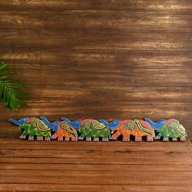 "Decorative panels of ""5 elephants"""