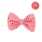 Карнавальная бабочка с пайетками, световая, цвет розовый
