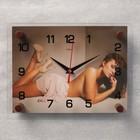 """Часы настенные прямоугольные """"Девушка"""", микс  20х26 см"""