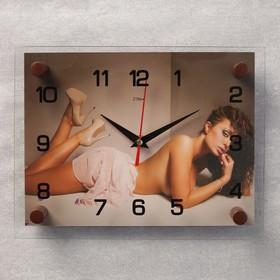 """Часы настенные, серия: Люди, """"Девушка"""", микс 20х26 см"""