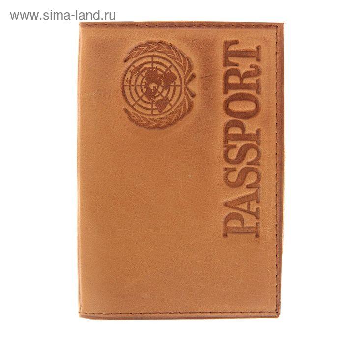 Обложка для паспорта, тиснение, латинские буквы, жёлтая